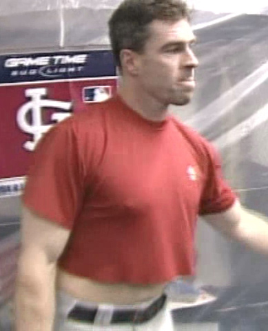 Jim Edmonds needs a belly wax
